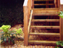 Timber Constructed Steps to Raised Decking Area